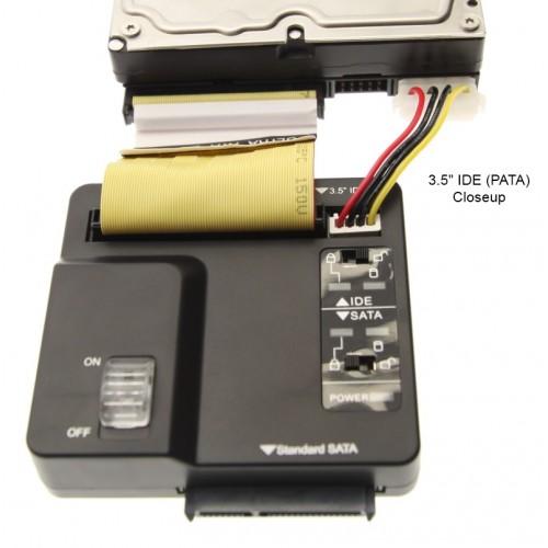 close up image of the SATA adapter to a hard drive