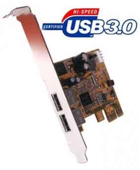 USB 3.0 Super High Speed 2-Port PCI Express Card for Windows 7