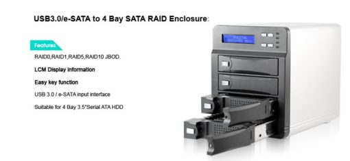 Full image of USB 3.0 eSATA 4 Bay Raid Enclosure
