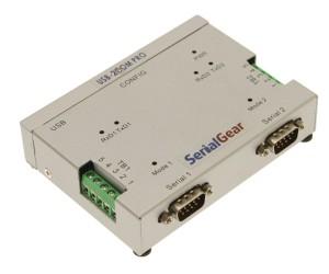 2 Port USB to RS-232/422/485 Auto Setup Adapter image