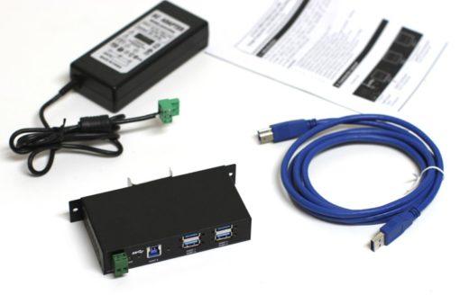 USBG-4U3ML Industrial 4-Port Metal Hub