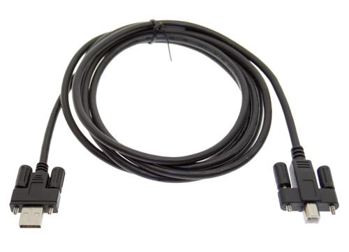 "6ft. screw lock cable with type ""A"" and type ""B"" connectors image"