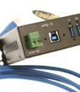 USBG-7U3ML USB 3.0 DIN Rail Mountable Hub