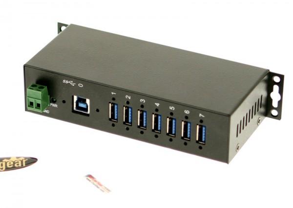 USB 3 Hub - 7-Port USB 3.0 Industrial Metal Case Hub