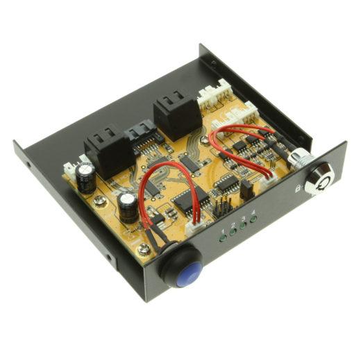 4 Port SATA II / III Switch 3.5inch Design With KeyLock and LED