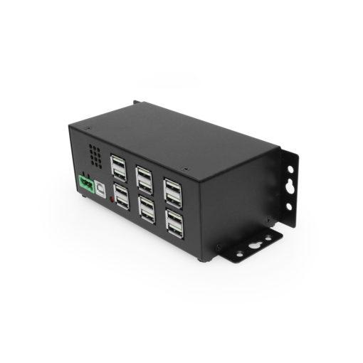 Industrial 12-Port USB 2.0 Powered Hub for PC-MAC DIN-RAIL Mount