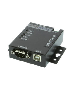 2 Port USB to Serial RS-232 DB-9 Adapter Industrial Metal Housing