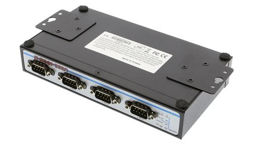 USB2-4COM-M 4-Port Serial AdapterBrackets Installed