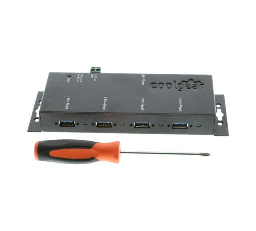 USBG-3X4M USB 3.0 Metal Hub Size Comparison