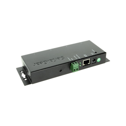 Industrial 4-Port RS-232 to Ethernet Data Gateway TCP/IP