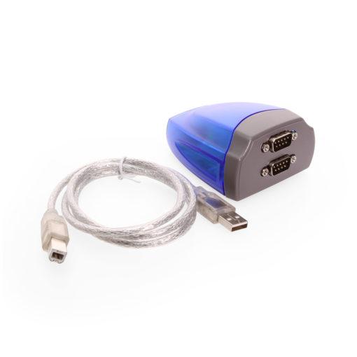 Dual Port USB to Serial RS-232 DB-9 Adapter Cable FTDI Chip RS-232 DB-9 FTDI Adapter