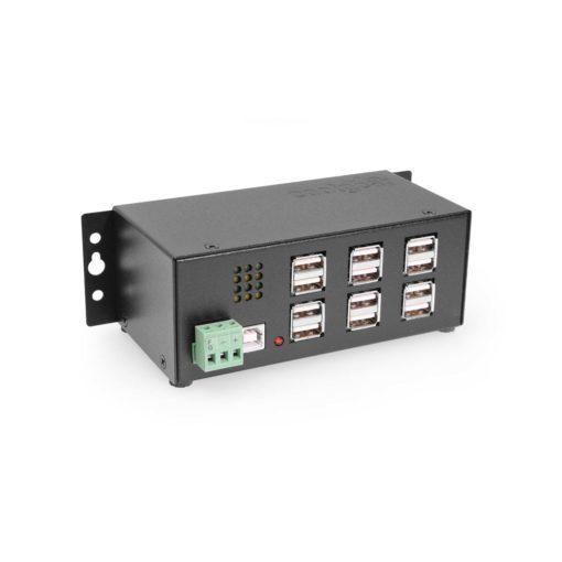 12 Port USB 2.0 Powered Hub w/ Port Status LEDs