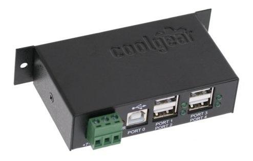 USB 2 Hub - DIN Rail Mount USBG-4U2ML
