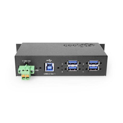 USB 3.0 4-Port Industrial Hub Metal Case