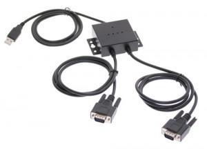 USB 2.0 Dual Port Serial DB-9 RS-232 FTDI CHIP