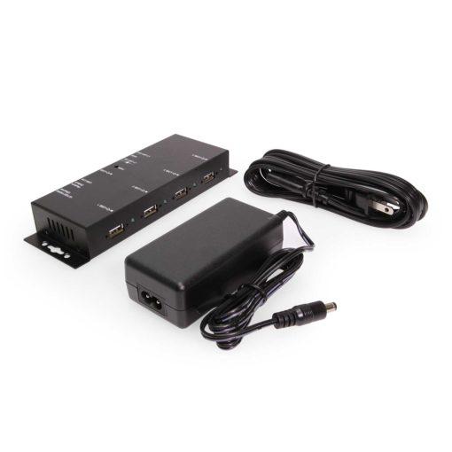 USB 2.0 Over IP Network Industrial 4-Port Hub – TCP/IP Network 4 Port TCP Hub