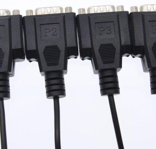 USB-4X232FTDI DB-9 Male End Serial Connectors