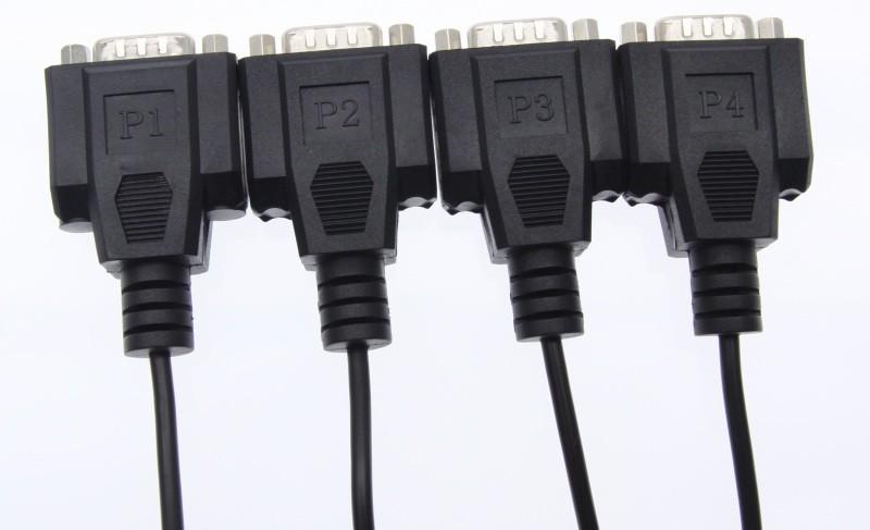 USB-4X232FTDI DB-9 Male Ends Connectors