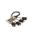 Quad Port Serial RS-232 PCMCIA Adapter DB-9 Serial