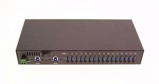 16 Port USB 3.0 Metal Hub port connection image