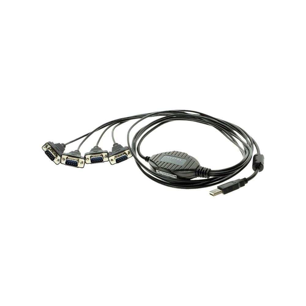 4-port usb db-9 serial adapter solution
