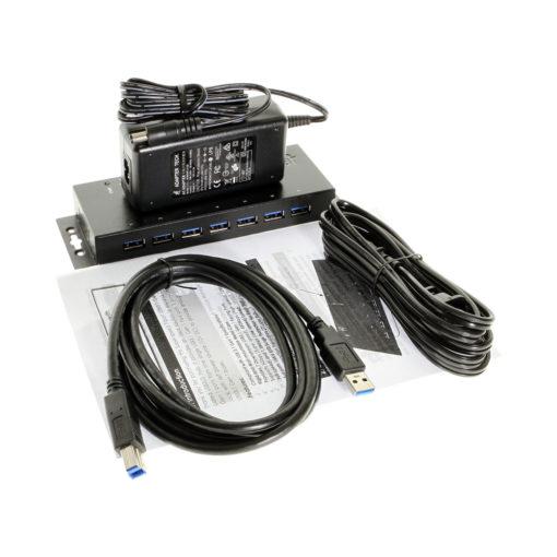 7-Port USB 3.0 Metal Hub with Surge Protection