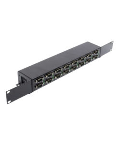 16-Port Industrial RS232 to USB 2.0 Hi-Speed Serial Adapter DIN Rail Mount