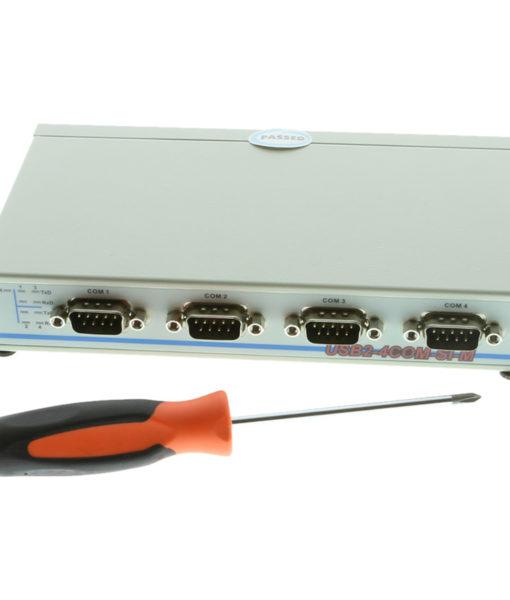 USB2-4COM-SI-M Serial Adapter Size Comparison