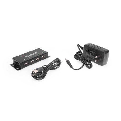 4-Port USB 2.0 Mini Metal High-Speed Hub USB 2.0 Mini Hub