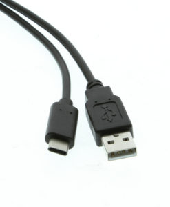 CM-U2CMAM-1M Connectors Closeup USB-A-to-C-Type