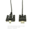 USB 2.0 A to B screw lock cable