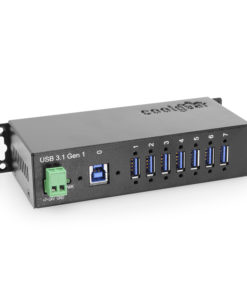 7-Port USB 3.2 Gen 1 Hub with with Din-Rail Mount #1 Main Listing
