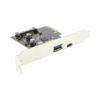CG-PCIe31-AC USB 3.1 PCIe Card Ports Close up