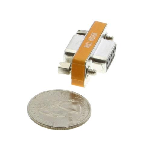 DB9 F/F Serial RS232 Mini Gender Changer – Null Modem Adapter