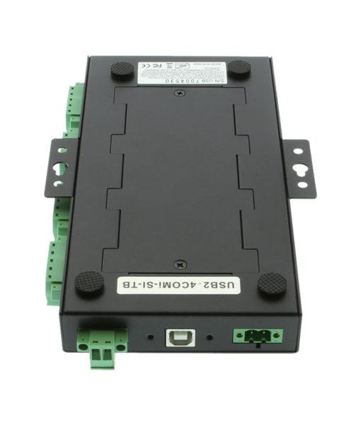 USB2-4comi-SI-TB DIN rail mounting