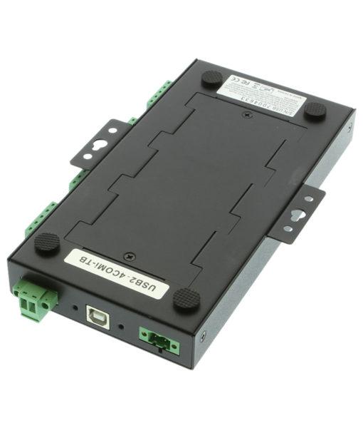 USB2-4comi-TB serial adapter DIN rail mount