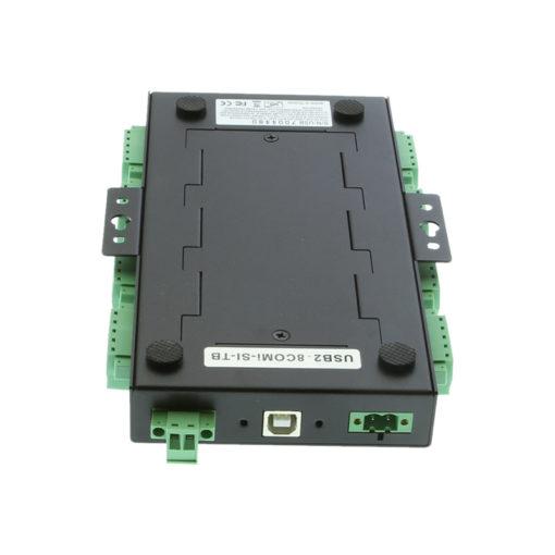 USB2-8COMi-SI-TB serial adapter DIN rail mounting