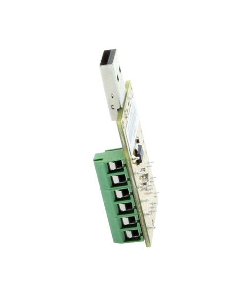 side view USB TTL terminal block