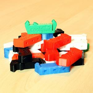 3D printed din rail clips