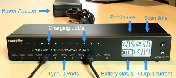 Type C USB 12 port charger