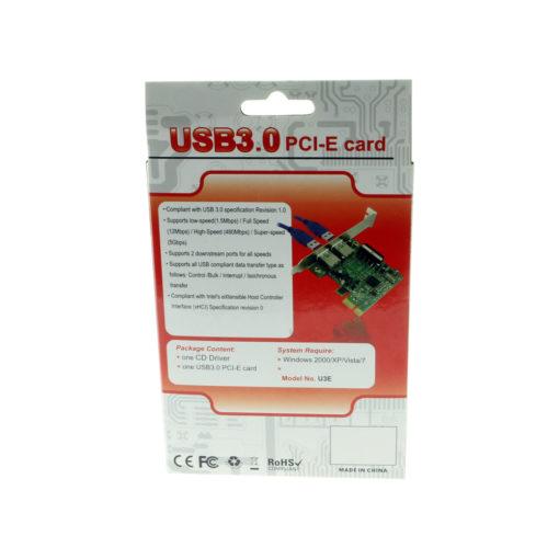 USB 3.0 PCIe Card Back Panel