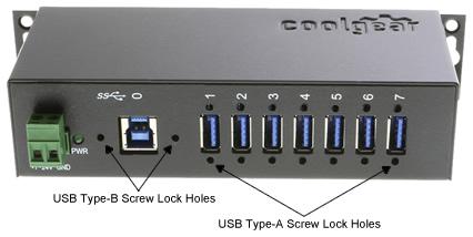 USBG-7U3ML 7Port USB 3 Metal Hub screw lock