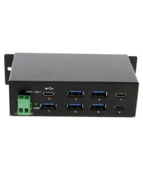 USB-C 7 port hub with 1 USB-C ustream port