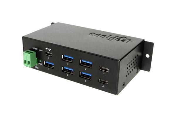 USB-C 7 port Metal Hub 2 Type-C ports