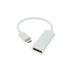 White USB C to DisplayPort UHD Adapter