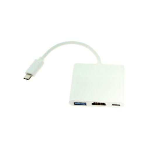 USB C to HDMI Female w/USB 3.0 and Type-C Ports