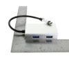 USB-C to 4 Port Aluminum Hub Size