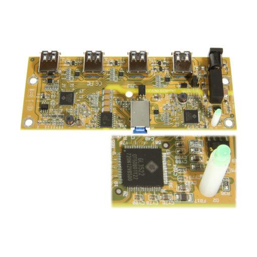 CG-U31iS4PH circuit board with hub chip and LED
