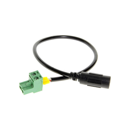 Power connector cable with 2-wire connector