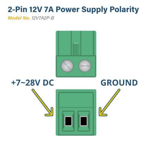 70w 12V/6A Power Supply for 2 Pin USB Hub Power B Configuration